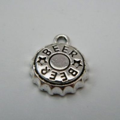 Beer Cap Keyring - Double Charm Style